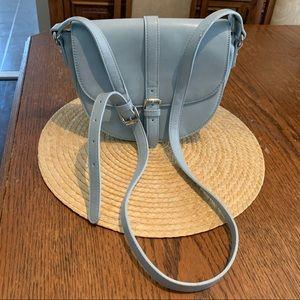 David Johns Paris Baby Blue Saddle Crossbody Bag